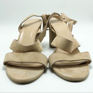 J Crew Suede Strappy Sandal with Chunky